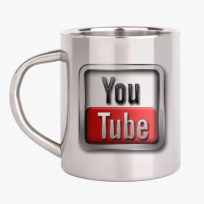 Кружка металлическая YouTube
