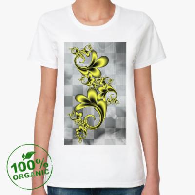 Женская футболка из органик-хлопка Завитки