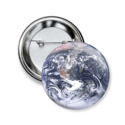 Значок 50мм Планета Земля