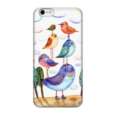Чехол для iPhone 6/6s Акварельная иллюстрация птицы, арт
