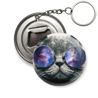 Брелок-открывашка  'Кот в очках'