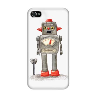 Чехол для iPhone 4/4s Винтажные игрушечные роботы