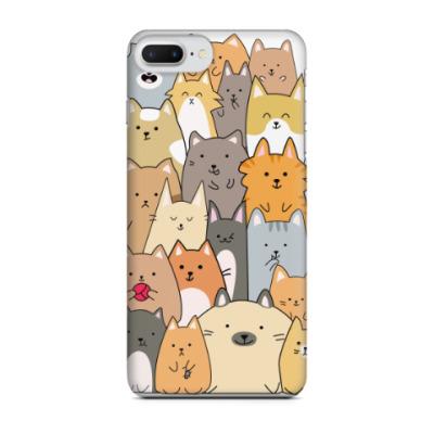 Чехол для iPhone 7 Plus Смешные коты (funny cats)
