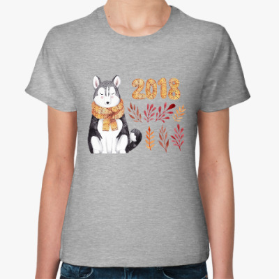 Женская футболка Хаски 2018