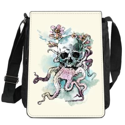 Сумка-планшет Череп-кальмар