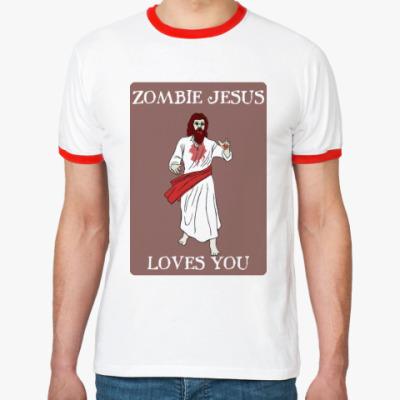 Футболка Ringer-T Zombie Jesus