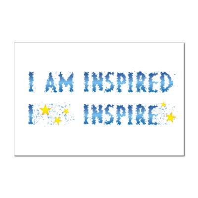 Наклейка (стикер) I am inspired & I inspire