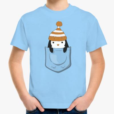 Детская футболка Пингвин в кармашке