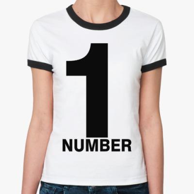 Женская футболка Ringer-T Номер Один
