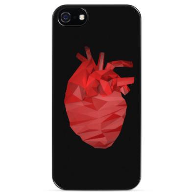 Чехол для iPhone Сердце 3D