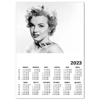 Календарь  A4 М.Монро*11(бел)