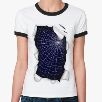 Женская футболка Ringer-T Паутина