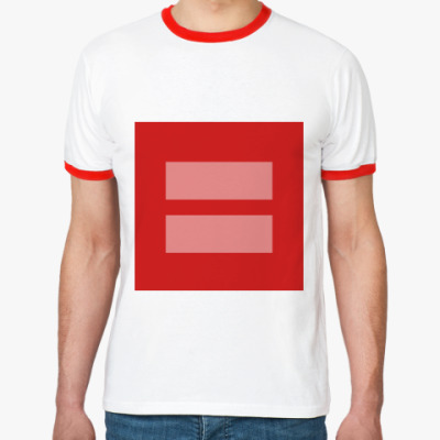Футболка Ringer-T Marriage equality [LGBT]