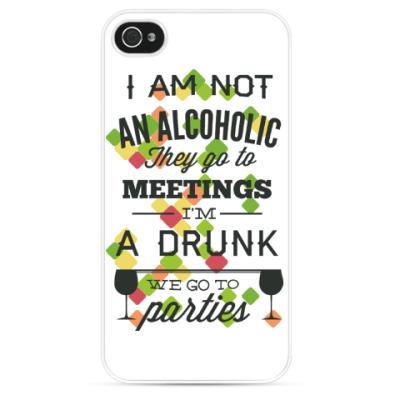 Чехол для iPhone Я не Алкоголик!