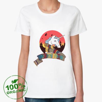 Женская футболка из органик-хлопка Рождественский Единорог в стиле Доктора Кто