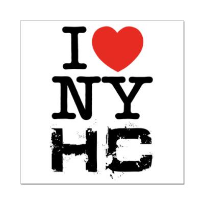 Наклейка (стикер)   I <3 NYHC