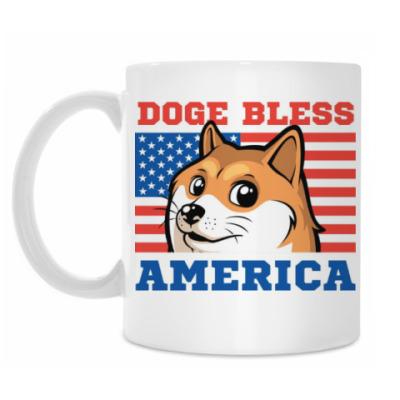 Кружка Doge Bless America