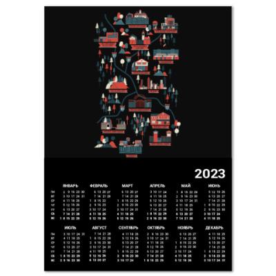Календарь Карта сериала Ходячие мертвецы