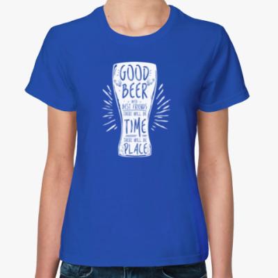 Женская футболка Весёлая кружка (funny mug)