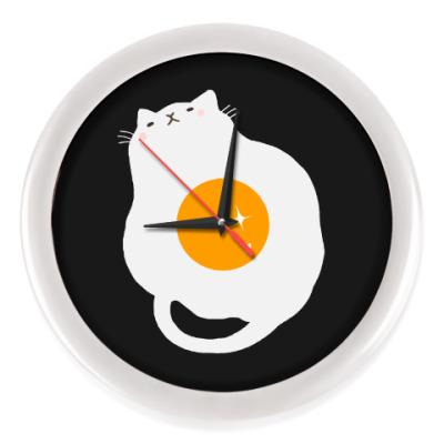 Настенные часы Кот-яичница