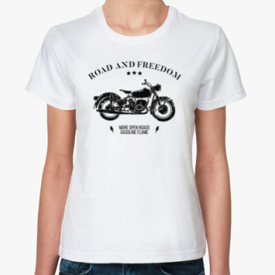 Классическая футболка Король дорог (мотоцикл)