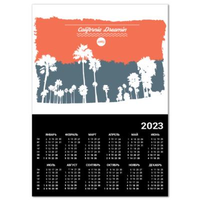 Календарь Город в Калифрнии (USA)