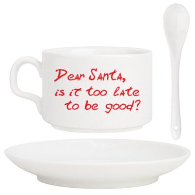 Кофейный набор Dear Santa, is it too late..?
