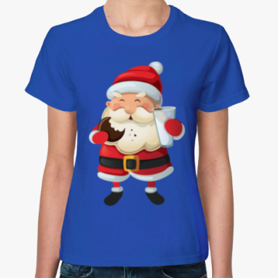 Женская футболка Eating Santa