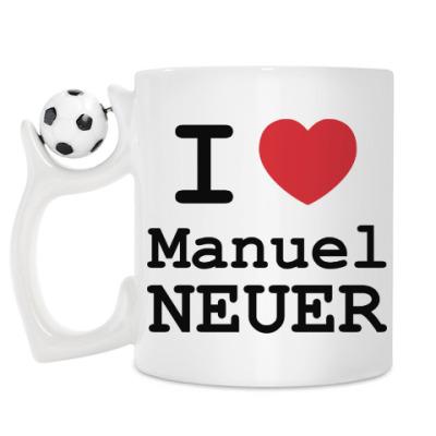 Кружка I love Manuel Neuer