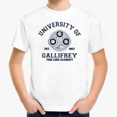 Детская футболка University of Gallifrey