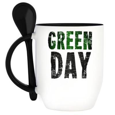 Кружка с ложкой Green Day
