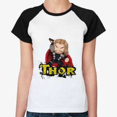 Женская футболка реглан ТОР /THOR (мстители)