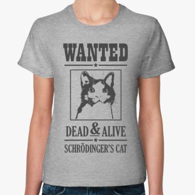 Женская футболка Schrödinger's cat
