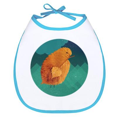 Слюнявчик Цыпленок, большой и одинокий