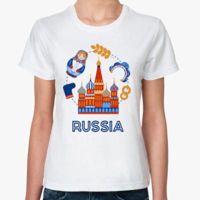 Классическая футболка Russia, Россия