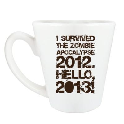 Чашка Латте I survived 2012. Hello, 2013!