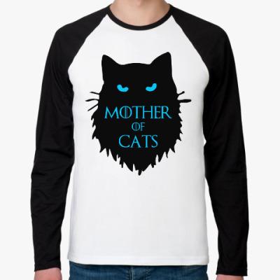 Футболка реглан с длинным рукавом Mother of cats