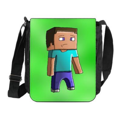 Сумка на плечо (мини-планшет) Minecraft Steve