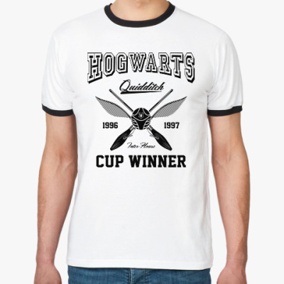 Футболка Ringer-T Hogwarts Quidditch Cup Winner
