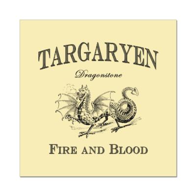 Наклейка (стикер) Targaryen