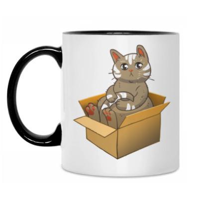 Кружка Кот в коробке