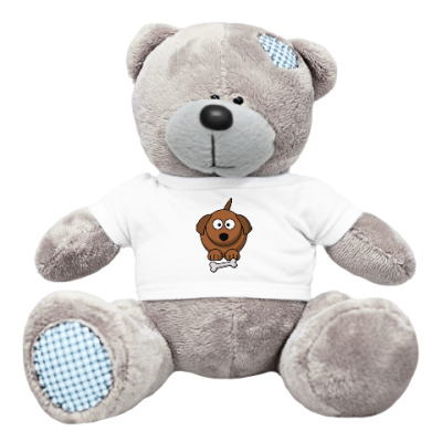 Плюшевый мишка Тедди Собачка с косточкой