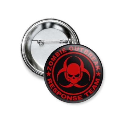 Значок 37мм Zombie outbreak response team