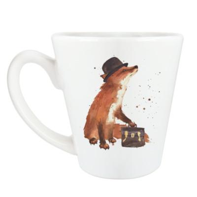 Чашка Латте Aquarelle Busy Fox