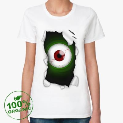 Женская футболка из органик-хлопка Глаз