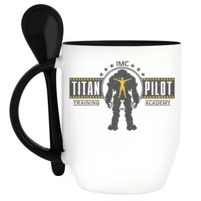 Кружка с ложкой Battlefield Titan Pilot