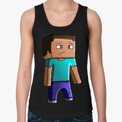 Женская майка Minecraft Steve