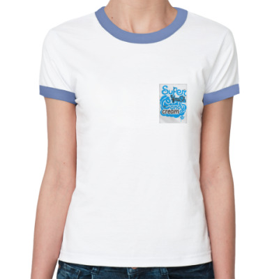 Женская футболка Ringer-T  candy cream