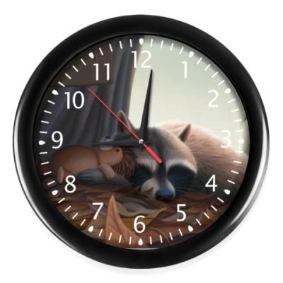 Настенные часы  Енотьи сны