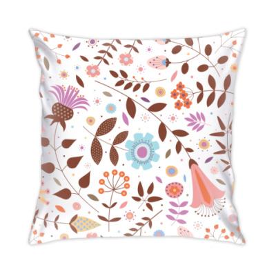 Подушка осенние цветы